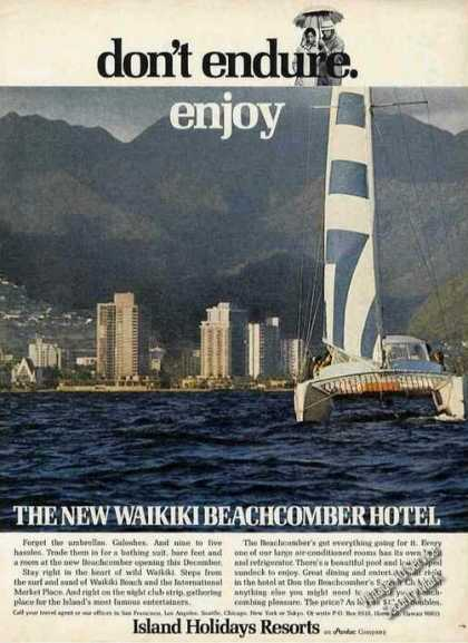 Waikiki Beachcomber Hotel Catamaran Travel (1970)