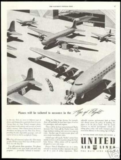 United Airlines WWII Transport Airplanes (1943)