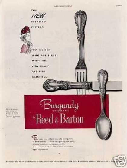 Reed & Barton Sterling Ad Burgundy (1949)