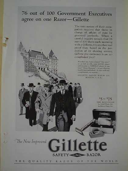 Gillette Safety Razor Railroad AND Williams Shaving Stick (1926)