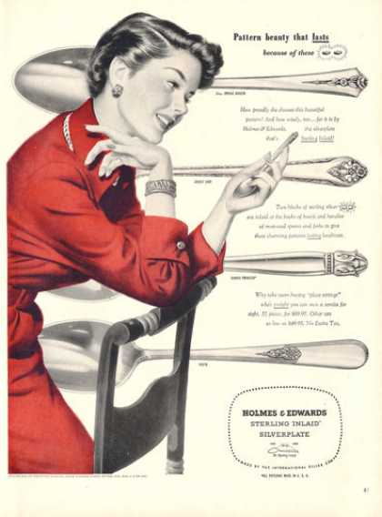 Holmes & Edwards Silverplate Sterling Photo (1950)