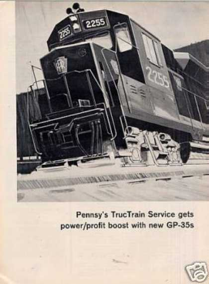 Gm/emd Locomotive Ad Pennsylvania Rr Gp-35's (1964)