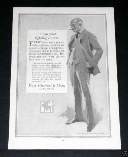 Old , Hart Schaffner Marx Clothes (1918)