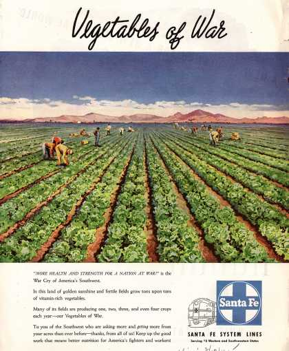 Santa Fe System Lines – Vegetables of War (1945)