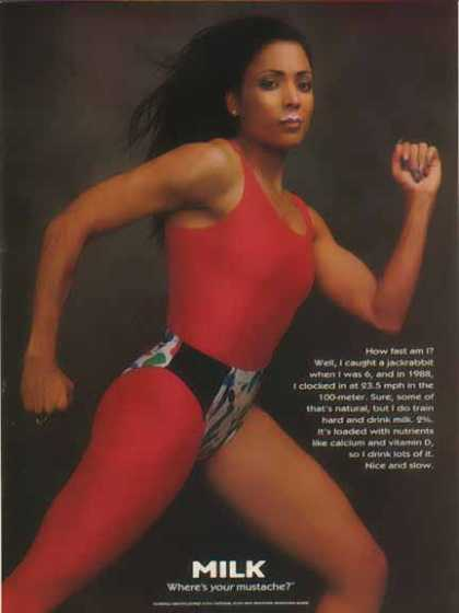 Florence Griffith Joyner – Got Milk? (1996)