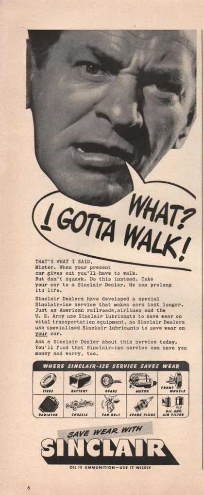What I Gotta Walk Sinclair Dealers Print A (1942)
