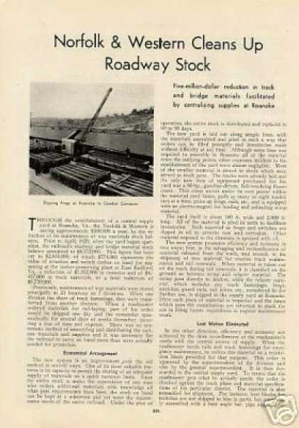 """Norfolk & Western Cleans Up Roadway Stock"" (1932)"
