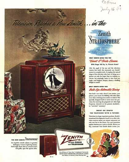 Zenith Radio Corporation's Television – Television Reaches a New Zenith (1949)
