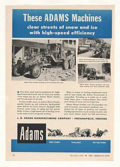 Adams Motor Grader TraveLoader Snow Removal (1952)
