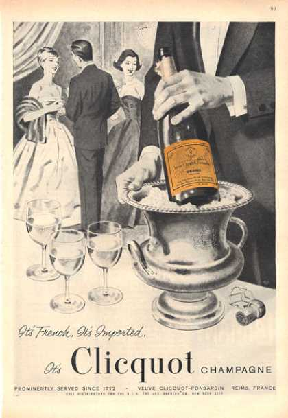 Rare Clicquot Champagne French Full Size (1959)