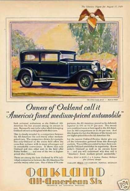Oakland 2-door Sedan Color (1929)