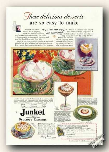 Junket Makes Milk Into Delicious Desserts (1928)