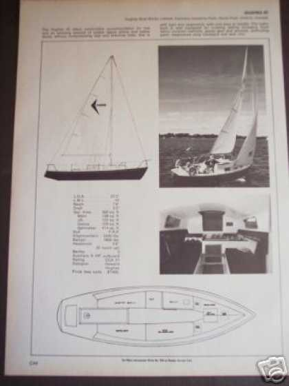 Hughes 25 Sailboat Boat Spec Page (1971)