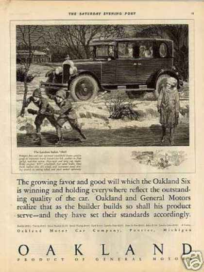 Oakland Landau Sedan Ad Woodruff Art (1925)