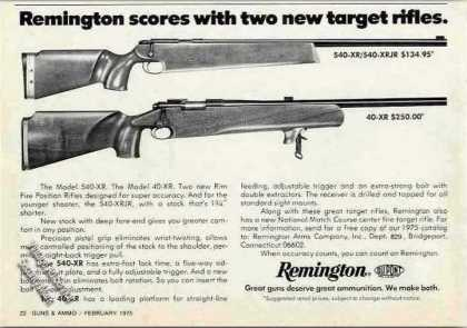 Remington Scores With Two New Target Rifles Gun (1975)