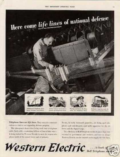 "Western Electric Ad ""Life Lines of National... (1941)"