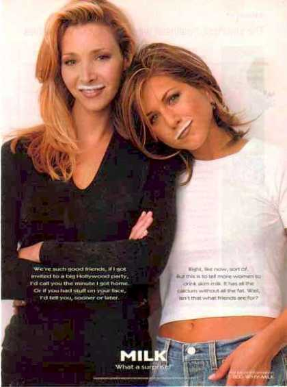 Lisa Kudrow & Jennifer Aniston – Got Milk? (1995)