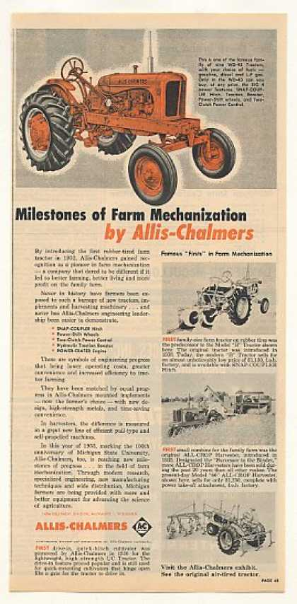 Allis-Chalmers WD-45 Tractor Milestones of Farm (1955)