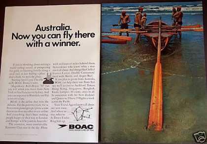 Canoe Down Under Boac Airline To Australia (1967)