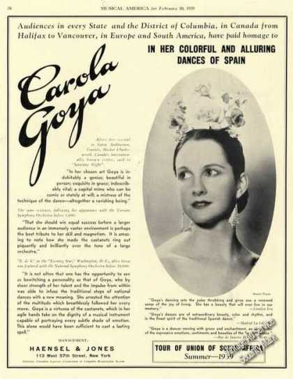 Carola Goya Photo Dances of Spain Rare (1939)