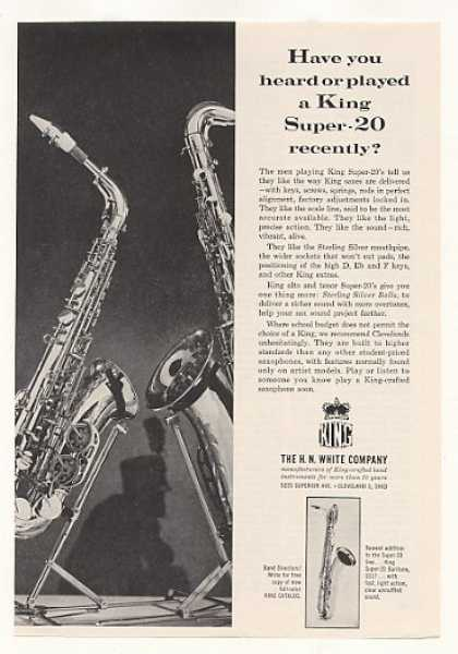 H N White King Super-20 Saxophone (1963)