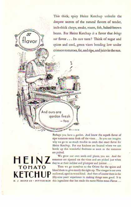 Heinz Tomato Ketchup -57 Flavors / H. J. Heinz Co. (1928)