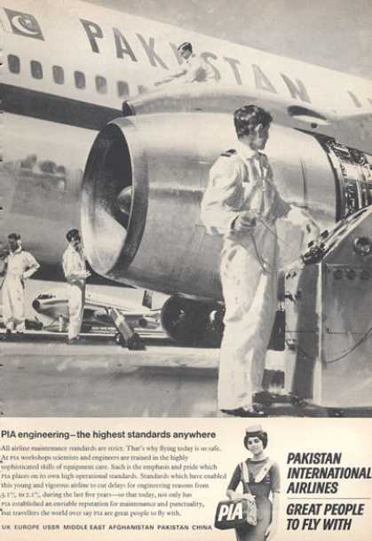 Pia Pakistan International Airlines Stewardess (1966)