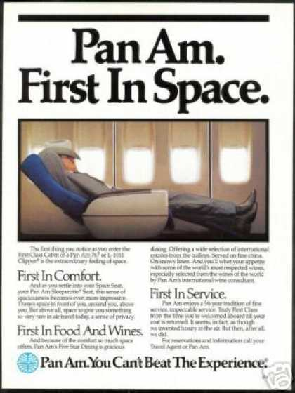 Pan Am Airlines 1st Class 747 or L-1011 (1984)