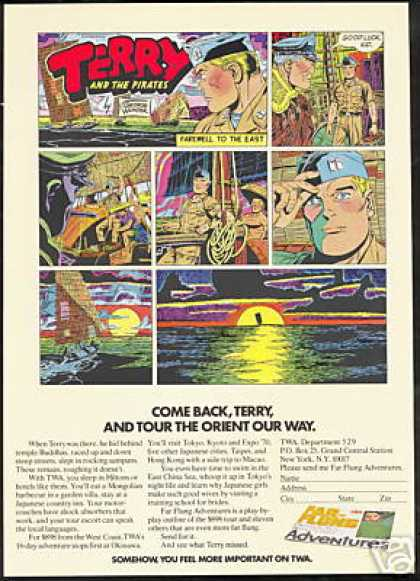Terry And The Pirates Comic TWA Airlines (1970)