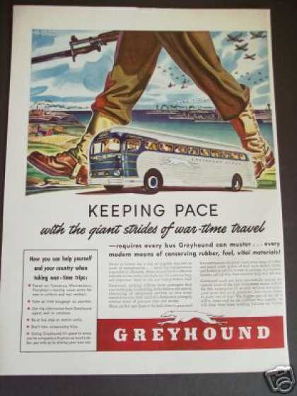 Greyhound Bus War-time Travel War Wwii (1942)