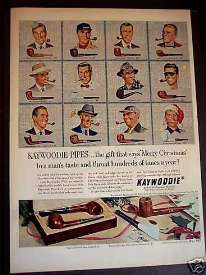 Kaywoodie Tobacco Pipes X-mas (1952)