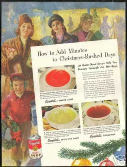 Christmas Shopping Art Campbell's Soup (1946)