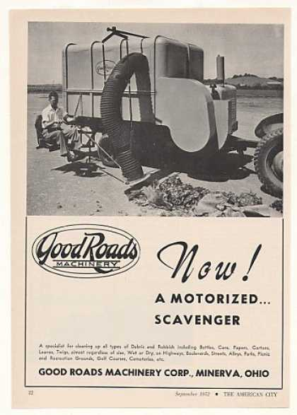 Good Roads Machinery Motorized Scavenger (1952)