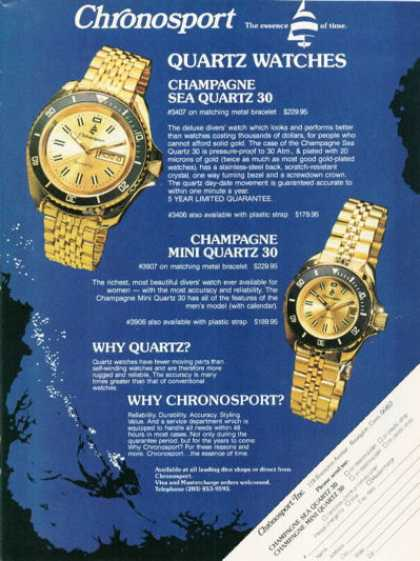 Chronosport Sea Quartz 30 Mini Quartz Watch (1979)