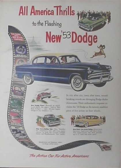Dodge Coronet Car – V8 Series & Meadowbrook Six Series – Sold (1953)
