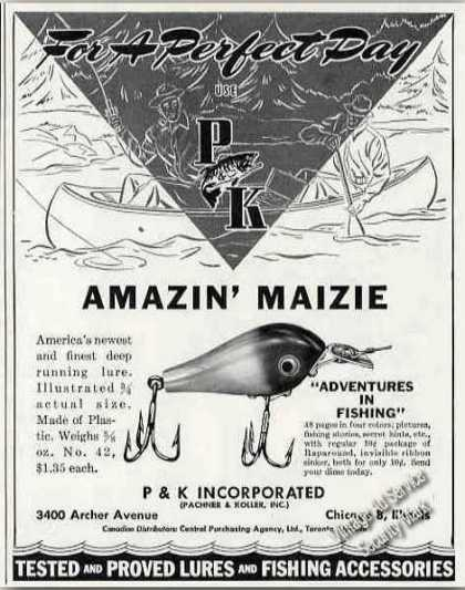 """Amazin' Maizie"" P&k Fishing Lure (1947)"