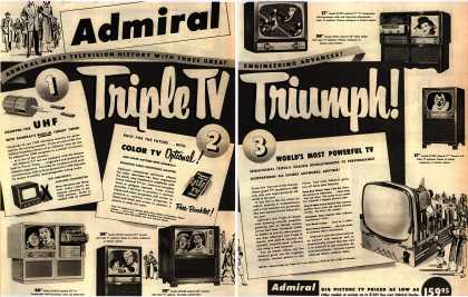 Admiral Corporation's Television – Admiral makes Television History With Three Great Engineering Advances (1951)