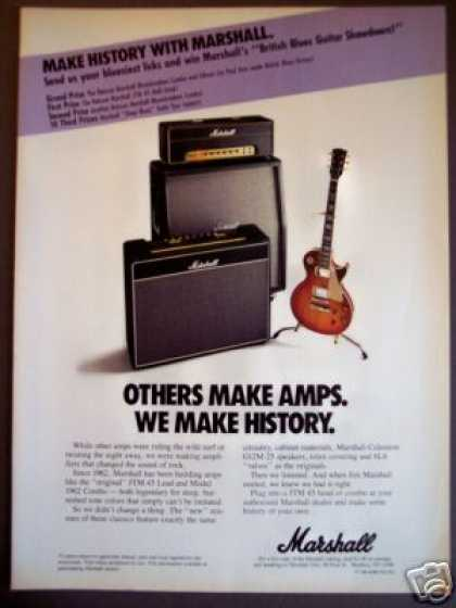 Marshall Amps Jtm 45 & 1962 Comb Reissues Photo (1989)