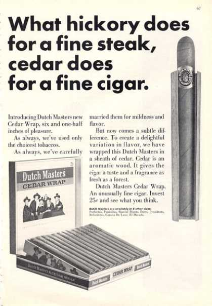 Dutch Masters Cedar Wrap Cigar Box (1964)