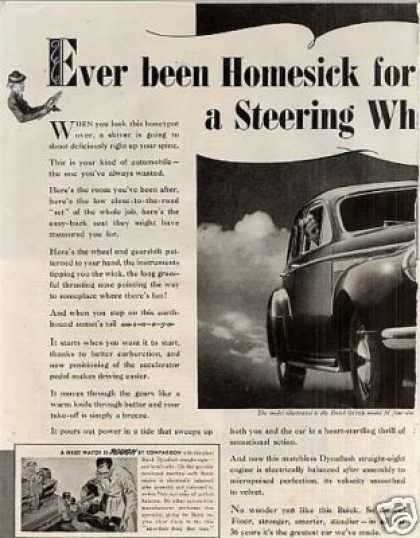 Buick Super Touring Sedan 2 Page Ad Model 51 (1940)