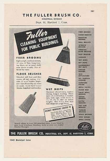 The Fuller Brush Co Broom Brush Mop Cleaning (1948)