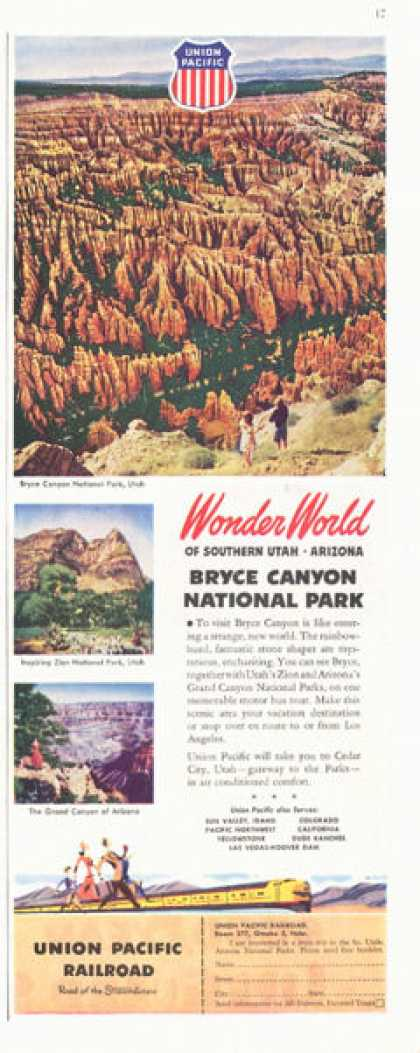 Union Pacific Railroad Bryce Canyon Park (1949)