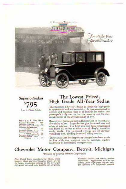 Chevrolet Car – Superior Sedan / All Year All Weather – Sold (1924)