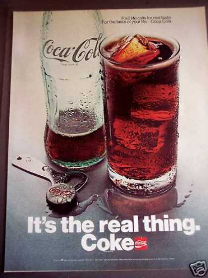 Coca-cola Soda In a Glass Coke (1970)