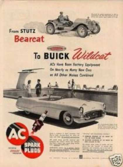 Ac Plugs Ad Buick Wildcat Car (1953)