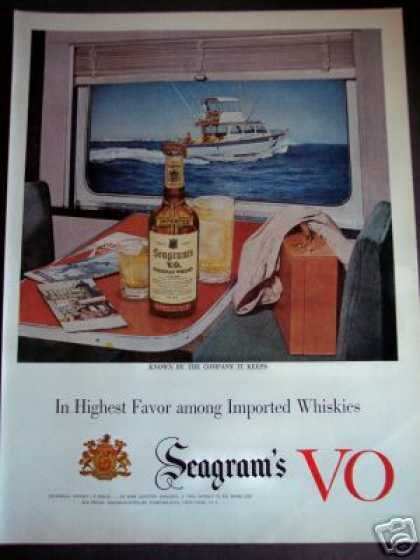 Fishing Boat Art Seagram's Vo Whisky (1953)