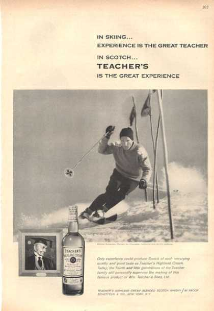 Teachers Highland Cream Bottle Snow Ski (1959)