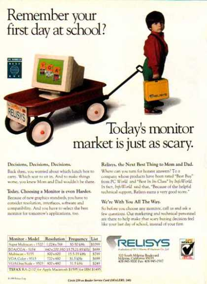 RELISYS Monitor – Remember your first day at school? (1989)