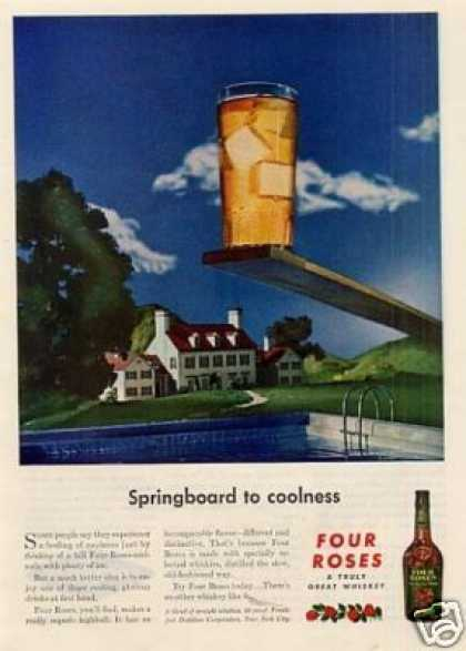 "Four Roses Whiskey Ad ""Springboard To... (1946)"
