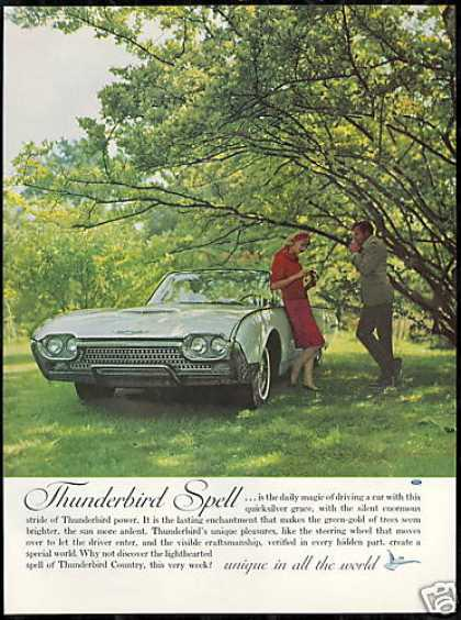 Ford Thunderbird Convertible Car Photo Vintage (1962)